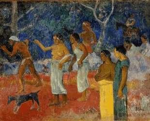 Сцена из таитянской жизни — Поль Гоген