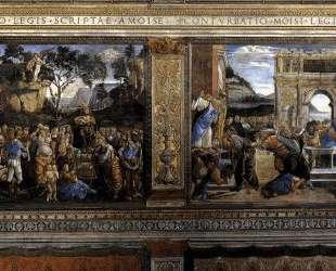 Сцена из жития Моисея — Сандро Ботичелли