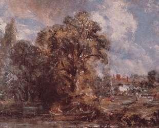 Сцена на реке — Джон Констебл