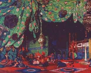 Эскиз декорации к балету 'Шехерезада' — Леон Бакст