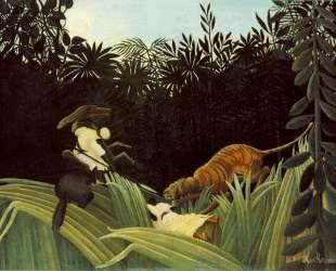 Scout Attacked by a Tiger — Анри Руссо