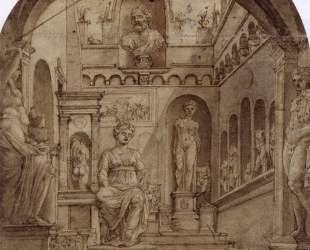 Sculpture Court of the Casa Sassi in Rome — Мартен ван Хемскерк