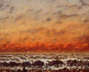 Морской пейзаж — Гюстав Курбе