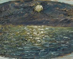 Морской пейзаж в лунном свете — Давид Бурлюк