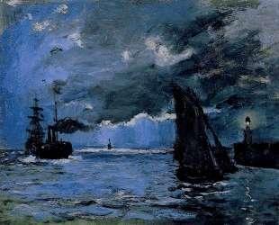Морской пейзаж, ночной эффект — Клод Моне
