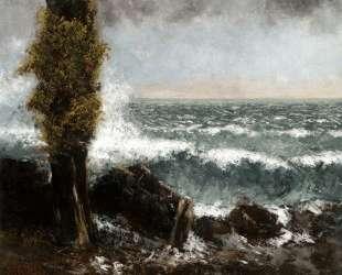 Морской пейзаж. Поплар — Гюстав Курбе