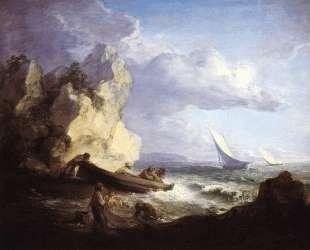 Seashore with Fishermen — Томас Гейнсборо