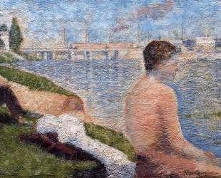 Сидящий купальщик — Жорж Сёра