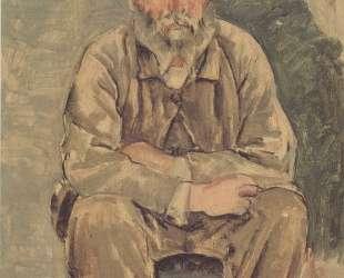 Seated bearded man — Фердинанд Ходлер