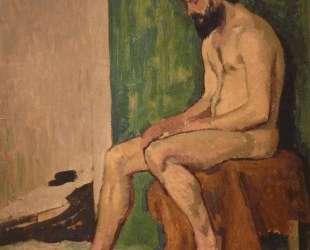 Seated bearded man — Роже де ла Френе
