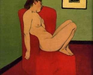 Seated Female Nude — Феликс Валлотон