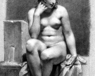 Seated Female Nude by a Fountain — Пьер Поль Прюдон