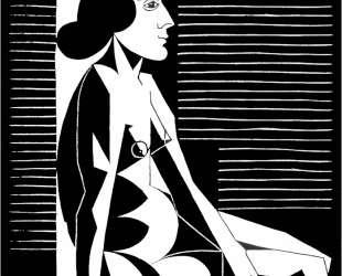 Seated Female Nude III — Мауриц Корнелис Эшер