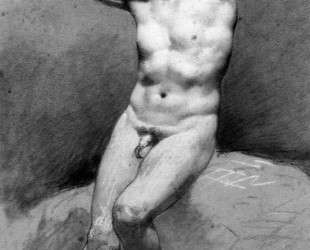 Seated Male Nude — Пьер Поль Прюдон