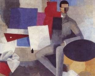 Seated man — Роже де ла Френе