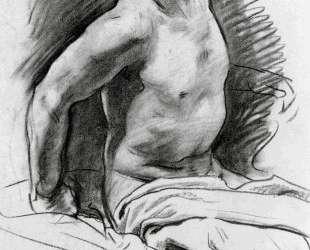 Seated Model with Drapery — Джон Сингер Сарджент