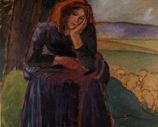 Seated Shepherdess — Камиль Писсарро