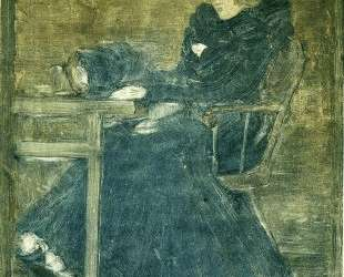 Seated Woman in Blue (also known as At the Cafe) — Морис Прендергаст
