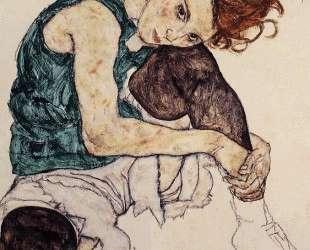 Seated Woman with Bent Knee — Эгон Шиле