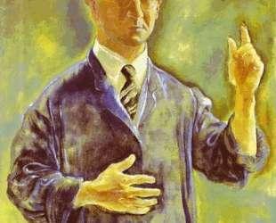 Self Portrait, Admonishing — Георг Гросс