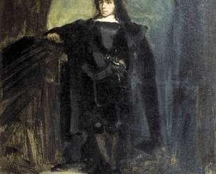 Автопортрет в образе Гамлета — Эжен Делакруа