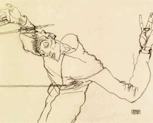 Self Portrait as St. Sebastian — Эгон Шиле