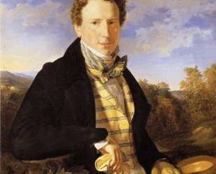 Self portrait at the age of 35 — Фердинанд Георг Вальдмюллер