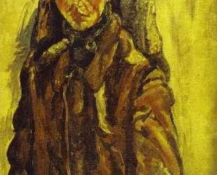 Self Portrait by Curtain — Хаим Сутин