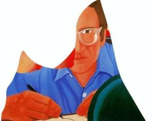 Self-portrait drawing — Том Вессельман