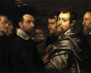 Self-Portrait in a Circle of Friends from Mantua — Питер Пауль Рубенс