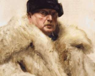 Self-portrait in a wolfskin — Андерс Цорн