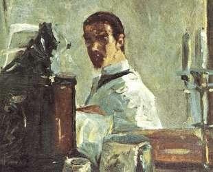 Self-portrait in front of a mirror — Анри де Тулуз-Лотрек