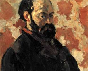 Self-portrait in front of pink background — Поль Сезанн