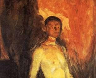 Автопортрет в аду — Эдвард Мунк