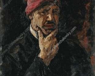 Автопортрет (в красном колпаке) — Пётр Кончаловский