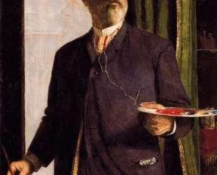 Self-Portrait in Studio — Арнольд Бёклин