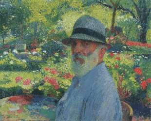 Self Portrait in the Garden — Анри Мартен