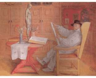 Self Portrait in the Studio — Карл Ларссон