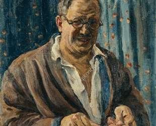 Автопортрет (Точит бритву) — Пётр Кончаловский