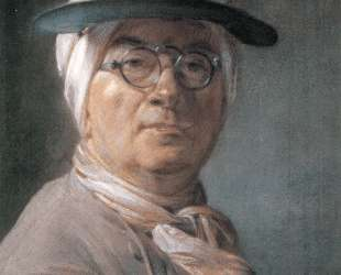 Self-portrait wearing Glasses — Жан Батист Симеон Шарден