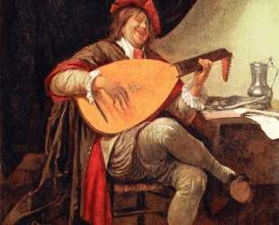 Self-portrait with a lute — Ян Стен