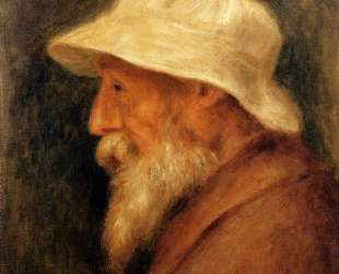 Self-Portrait with a White Hat — Пьер Огюст Ренуар
