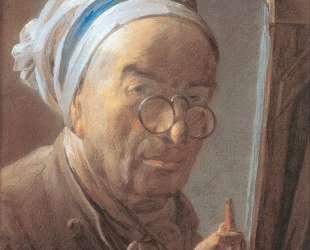 Self-Portrait with an Easel — Жан Батист Симеон Шарден