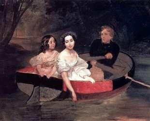 Портрет Е. Н.Меллер-Закомельской с девочкой в лодке — Карл Брюллов