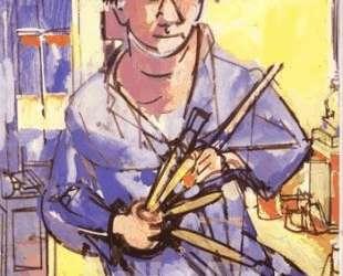 Self-Portrait with Brushes — Ганс Гофман