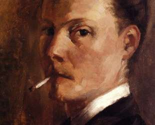 Self-Portrait with Cigarette — Анри Эдмон Кросс