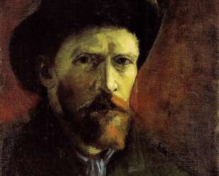 Self-Portrait with Dark Felt Hat — Винсент Ван Гог