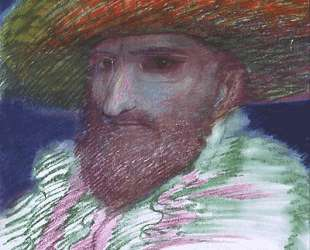 SELF-PORTRAIT WITH FEATHER HAT — Эрнст Фукс
