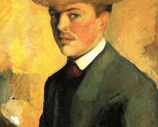 Self-Portrait with Hat — Август Маке