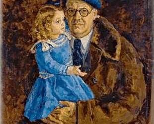 Автопортрет с внучкой — Пётр Кончаловский